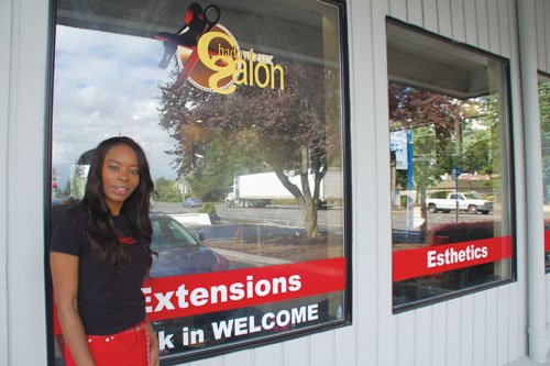 Charlisa Harris welcomes customers to her Chadowboxx Salon on Northeast 172nd Avenue in Gresham, a premier location for multicultural hair and skincare needs.