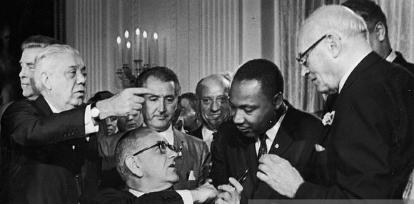Just a few weeks ago, we marked as a nation the 50th anniversary of the passage of the Voting Rights ...