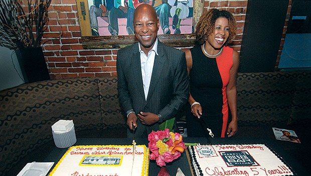 DCBK Proprietor Darryl Settles with his wife Dr. Lisa Owens.