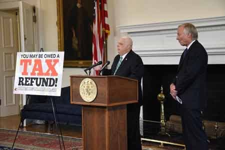 Governor Larry Hogan and Comptroller Peter Franchot urged eligible Maryland residents who filed and paid income taxes to another state ...