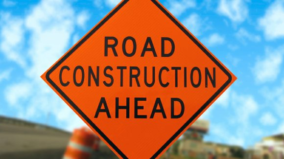 The construction is not expected to be complete until November and will reduce the road down to two lanes.