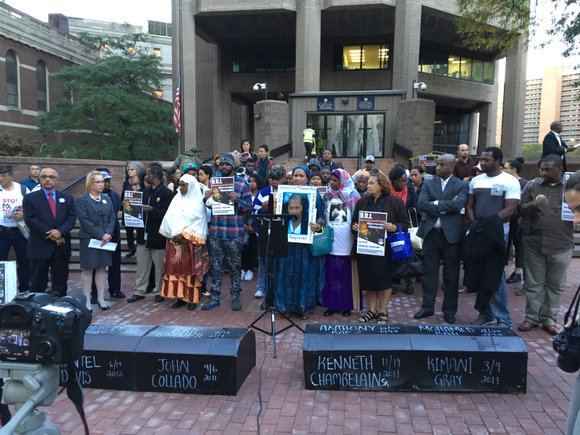 Wednesday, the mothers of Eric Garner and Ramarley Graham stood beside Hawa Bah, whose son Mohamed Bah was killed by ...