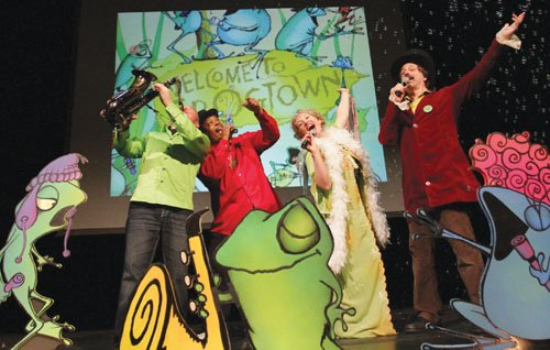 A high-energy dance party concert takes kids on a musical journey through blues, funk, soul and hip hop in 'Frogtown ...