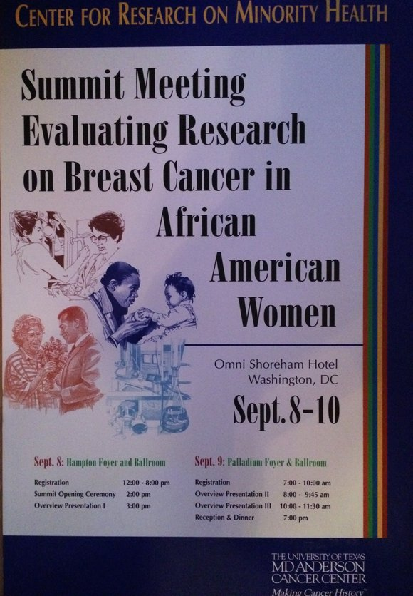 What a fitting time to write this op ed piece on breast cancer in African American women.
