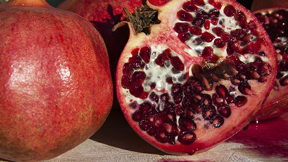 Pomegranates, known for their bright color and odd shape, are available only during the fall to early winter. Because of ...