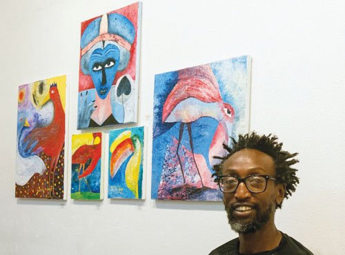 A Portland artist who grew up in Kenya is bringing his mixture of traditional and abstract art to the Alberta ...