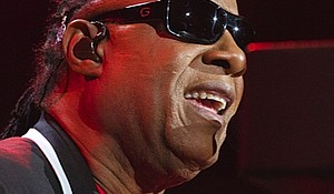 "Stevie Wonder performing last week at the Prudential Center in Newark during his ""Songs in the Key of Life"" world tour."