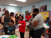 The opening of Dunbar Elementary's Family Resource Center attracted parents and students. (Photo: Merritt Gathen)