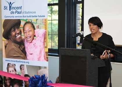 Mayor Stephanie Rawlings-Blake joined St. Vincent de Paul of Baltimore and other community leaders at the grand opening event for ...