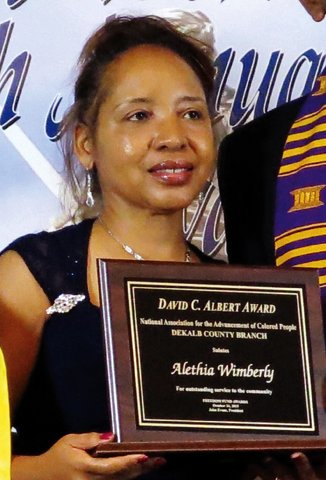 "Alethia Wimberly, David C. Albert Award for ""outstanding contribution and innovative leadership"""