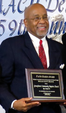 The Rev. Dennis Mitchell, Faith Based Award