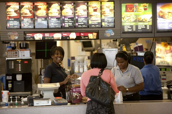 Another group of Americans that are worried about Donald Trump's presidency? Fast-food workers.