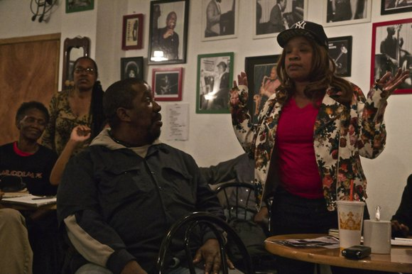 Members of the Brooklyn-based December 12th Movement congregated at Sistas' Place to celebrate Black Solidarity Day.