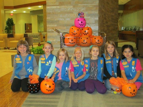 Members of Girl Scouts Troop 70305 in Romeoville made and donated the pumpkins as part of a community service project.