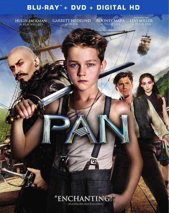 "Discover how Peter got to Neverland when ""Pan"" arrives onto Blu-ray 3D Combo Pack, Blu-ray Combo Pack, DVD and Digital ..."