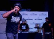 (Left) After three intense rounds, Baltimore native Osiris Green took home the crown as the 2015 Washington D.C. winner of the Jack Daniel's® Tennessee Honey presents Jack'N For Beats: We Got Bars Tour.