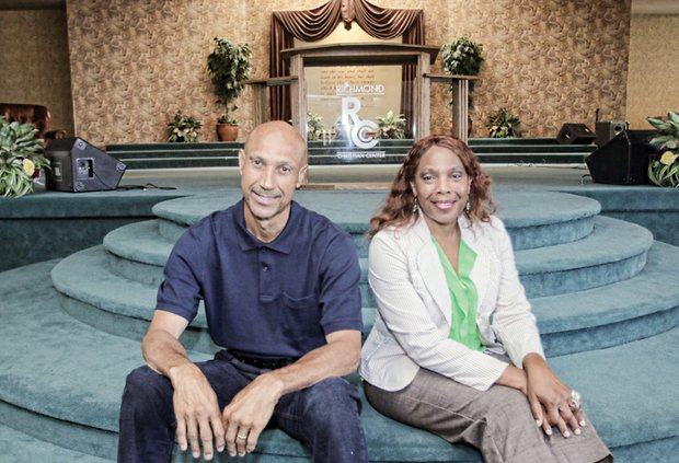 This Aug. 28 photo shows the Rev. Calvin W. Yarbrough and Rhonda Hickman, two of the Richmond Christian Center's trustees, when they were optimistic about raising the $200,000 the church needs to emerge from bankruptcy. They and a third trustee, Raymond Partridge, now say the church is still $150,000 short.