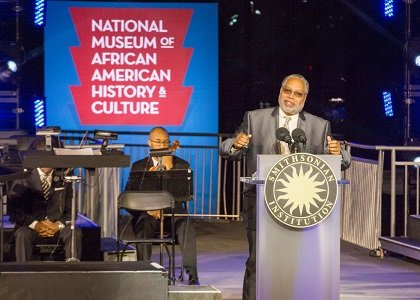 Hundreds of people gathered at an inaugural event for the Smithsonian's National Museum of African American History and Culture Monday ...