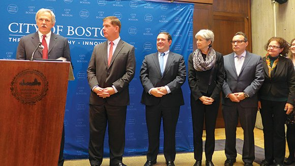 The city, JPMorgan Chase & Co. and The Boston Foundation announced an alliance — and a joint commitment of $1.2 ...