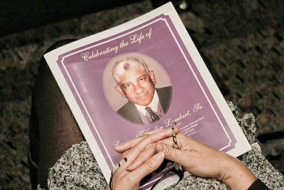 Hundreds of people gathered to remember Leonard W. Lambert Sr. at a funeral service Tuesday at Saint Paul's Baptist Church ...