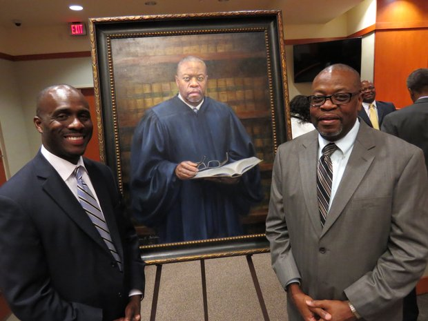 Attorney Keith Adams and  retired Judge Michael Hancock.