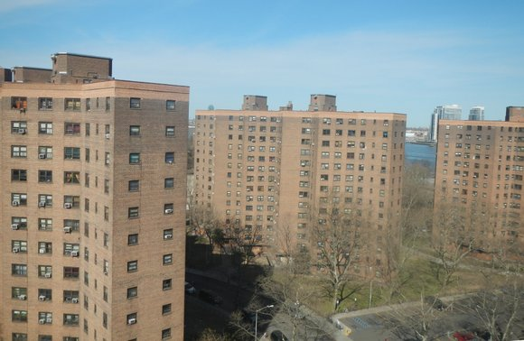 Mayor Bill de Blasio is announcing a $1 billion commitment to fix leaky roofs in New York City's public housing ...