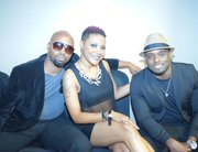 Johnathan Rayborn, Shana Jay and Carlos Strong before the band took the stage.