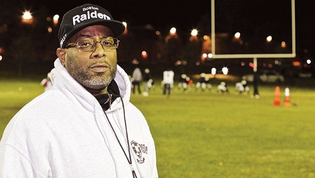 Antoine Davis is an assistant coach with Pop Warner football.