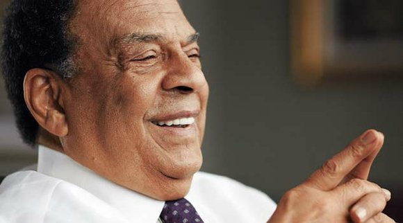 Former U.N. Ambassador Andrew Young, a leader in the Civil Rights Movement who helped secure the Civil Rights Act of ...
