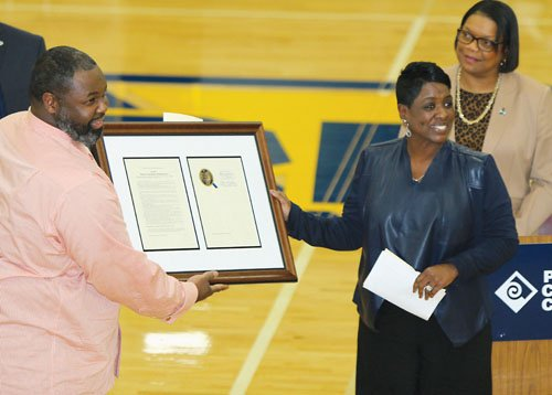 Portland Community College dedicated the basketball court at the Cascade Campus in north Portland on Dec. 2.
