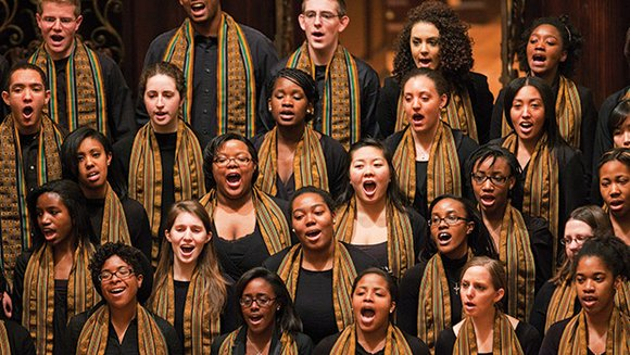 "The Kuumba Singers of Harvard College held its 45th Annual Allen S. Counter Christmas Concert, entitled ""Praise His Name"" at ..."