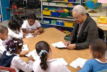 Elementary school students tutored by volunteers over 50 years of age in an after school literacy program made faster than ...