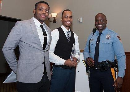 Left to Right: Applicants, Warren Pearson, Frank Sanders and Glassboro Police Patrol, Joshua Adieyefeh