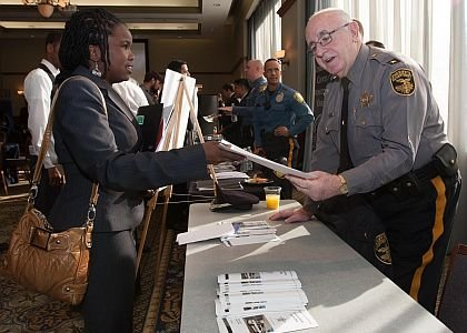 Left to Right: Applicant, Simone Drummond with Cumberland County's Sheriff, Robert Austino Simone Drummond is a Walden University Graduate studying for Ph.D. and looking for an opportunity in her field of study, Criminal Justice.
