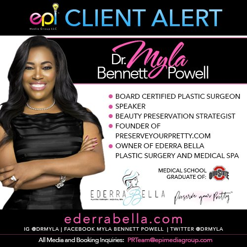"""On December 14, 2015 """"celebrity"""" plastic surgeon, speaker and business mogul, Dr. Myla Bennett-Powell, selected The epiMediaGroup, LLC, (epiMediaGroup) a ..."""