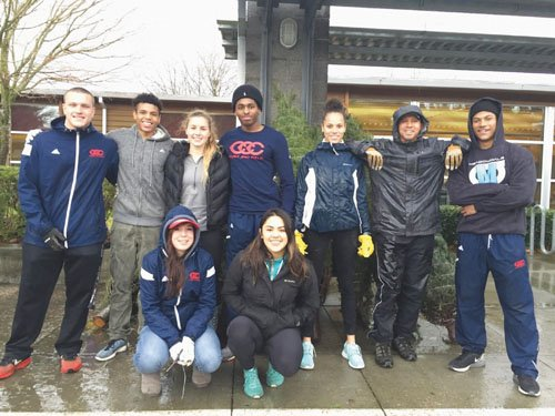 Track and field and cross country athletes at Clackamas Community College found a reason to get into the spirit of ...