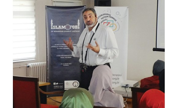 In the bustling conservative Fatih district, Imam Fadel Solimon looks at the floor and nods as a young woman asks ...