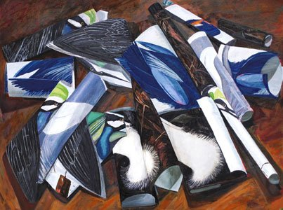 "A new exhibit, ""Paper Paintings: Recent Works by Teddy Johnson"" is on display at Bromo Seltzer Arts Tower on Friday, ..."