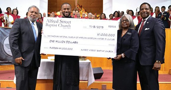 Alfred Street Baptist Church in Alexandria, one of the nation's oldest historically African-American churches in the nation, has pledged $1 ...