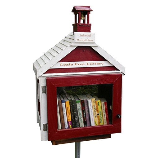 Geometry students in Romeoville helped create a little free library which will be part of a garden installation at Tibbott ...