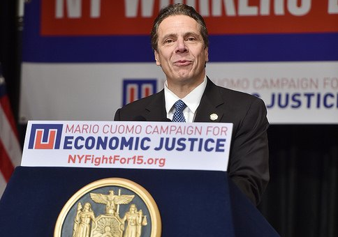 Gov. Andrew Cuomo delivers his State of the State address in Albany.