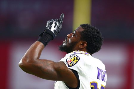 Shareece Wright wanted to be a Baltimore Raven for quite some time prior to joining the team in October.