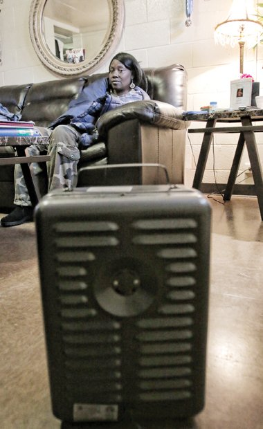 For the past three years, Tina Marie Shaw has had to rely on an electric space heater to keep the ...