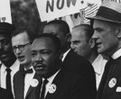 The Reverend Dr. Martin Luther King, Jr. at a Civil Rights March on Washington, D.C.