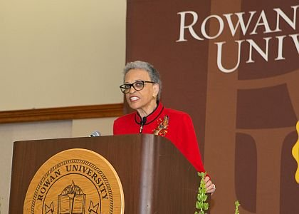Dr. Johnnetta B. Cole gives the keynote address at Rowan University's Martin Luther King Jr. Scholarship Breakfast on Jan. 18.