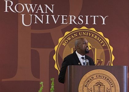 Dr. Richard Jones, Vice President for Student Life/Dean of Students for Rowan University was the Master of Ceremony.