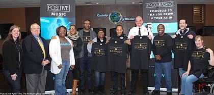 Pictured from left to right are Kim Rodkey of KLove Philly; Winslow Township Mayor Barry Wright; Renata Bass of KLovePhilly; Angela M. Brown, Executive Director, Loving Our Cities; Pastor Kevin C. Brown, The Perfecting Church; Mrs. Harley, Lighthouse of Deliverance Gospel Church; Winslow Township Police Officer Nubia Bowen; Winslow Township Police Lt. George Smith, incoming Chief of Police; Pastor Tony Harley, Lighthouse of Deliverance Gospel Church; and Pastor Steve and Christine Shuster, Sicklerville United Methodist Church.