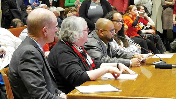 Supporters and opponents testified at the State House last week on a proposed constitutional amendment that would impose an extra ...