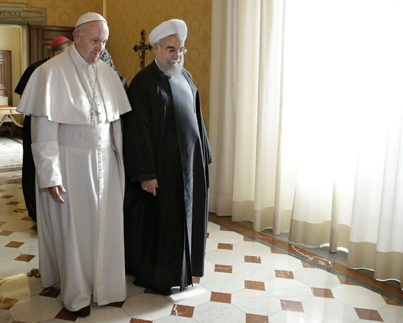 Pope Francis held talks with Iran's president at the Vatican on Tuesday, calling on Tehran to play a key role ...