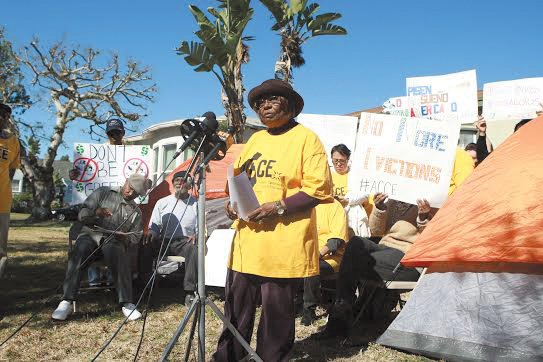 South Los Angeles resident Ruby Smith, 82, is fighting Wells Fargo Bank to keep the home she purchased in 1967, ...